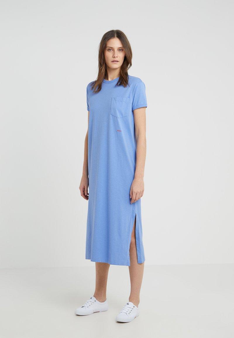Polo Ralph Lauren - UNEVEN - Jerseykleid - lake blue