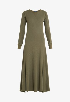 LONG SLEEVE  - Strickkleid - defender green