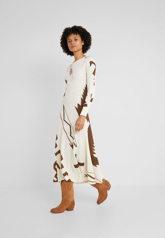 ROWIE LONG SLEEVE CASUAL DRESS - Gebreide jurk - beacon