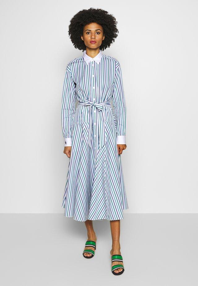 LONG SLEEVE CASUAL DRESS - Etui-jurk - green/blue/multi