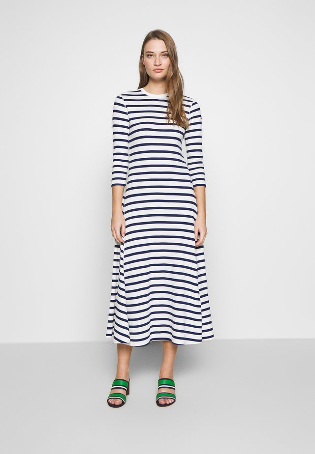 LONG SLEEVE CASUAL DRESS - Korte jurk - off white/dark blue