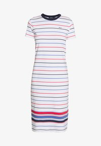 Polo Ralph Lauren - SHORT SLEEVE CASUAL DRESS - Jersey dress - white multi - 4