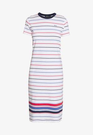 SHORT SLEEVE CASUAL DRESS - Žerzejové šaty - white multi