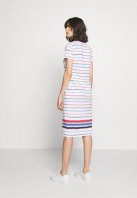 Polo Ralph Lauren - SHORT SLEEVE CASUAL DRESS - Jersey dress - white multi - 2