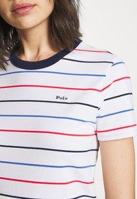 Polo Ralph Lauren - SHORT SLEEVE CASUAL DRESS - Jersey dress - white multi - 5