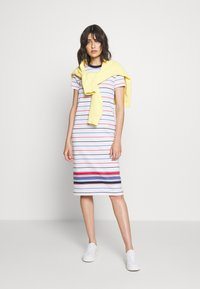 Polo Ralph Lauren - SHORT SLEEVE CASUAL DRESS - Jersey dress - white multi - 1