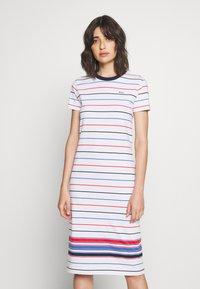Polo Ralph Lauren - SHORT SLEEVE CASUAL DRESS - Jersey dress - white multi - 0