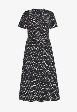 SHORT SLEEVE CASUAL DRESS - Shirt dress - spring polka