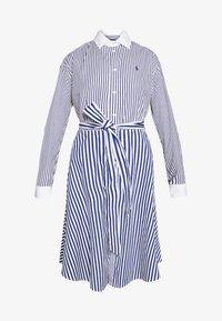 Polo Ralph Lauren - LONG SLEEVE CASUAL DRESS - Shirt dress - white/navy - 6