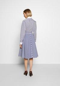 Polo Ralph Lauren - LONG SLEEVE CASUAL DRESS - Shirt dress - white/navy - 2