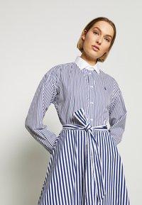 Polo Ralph Lauren - LONG SLEEVE CASUAL DRESS - Shirt dress - white/navy - 3