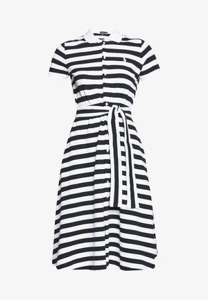 STRETCH - Vestido informal - black/ white