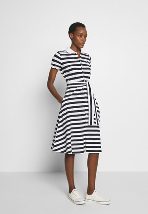 STRETCH - Korte jurk - black/ white