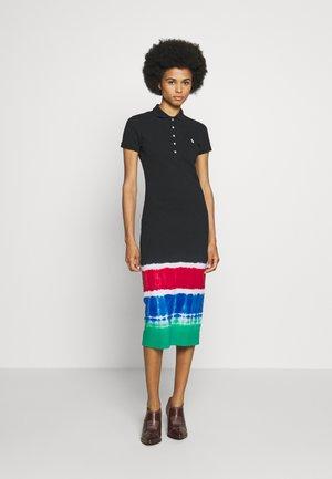 SHORT SLEEVE CASUAL DRESS - Vestido ligero - black/ multi