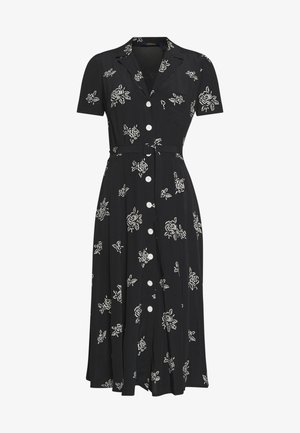 SHORT SLEEVE CASUAL DRESS - Day dress - black