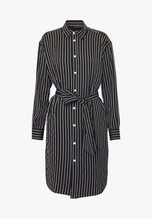 LONG SLEEVE CASUAL DRESS - Košilové šaty - black/white