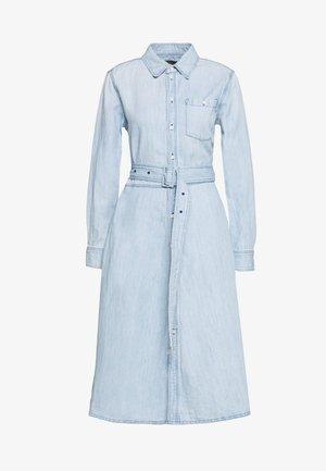 LONG SLEEVE CASUAL DRESS - Denimové šaty - light indigo