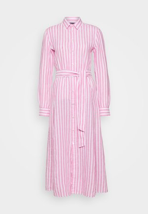 LONG SLEEVE CASUAL DRESS - Vestito lungo - pink/white