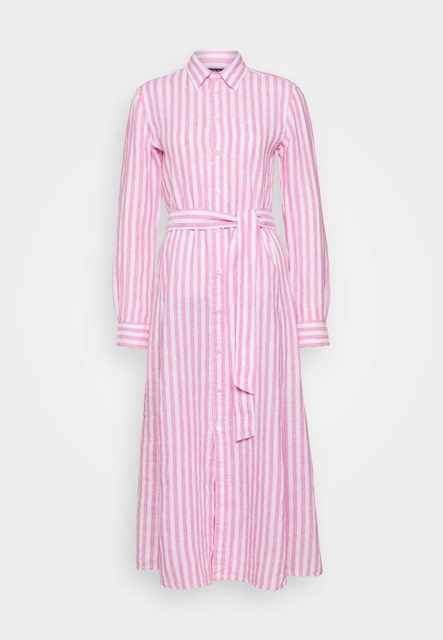 LONG SLEEVE CASUAL DRESS - Vestido largo - pink/white