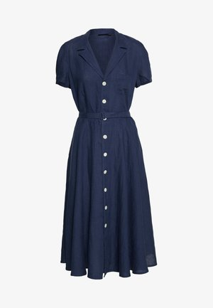SHORT SLEEVE CASUAL DRESS - Shirt dress - newport navy