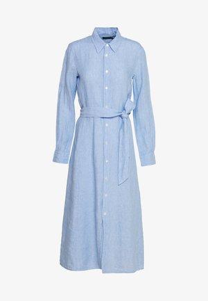 LONG SLEEVE CASUAL DRESS - Košilové šaty - light blue