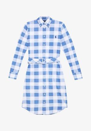 HEIDI LONG SLEEVE CASUAL DRESS - Abito a camicia - blue/white