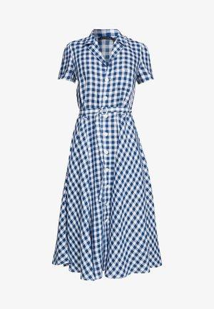 HORT SLEEVE CASUAL DRESS - Abito a camicia - blue/white