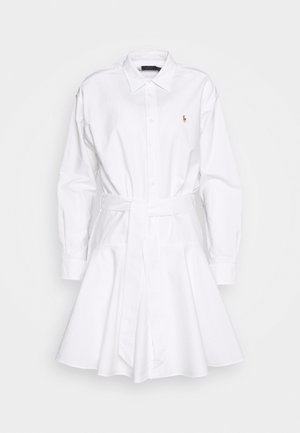 LONG SLEEVE CASUAL DRESS - Košilové šaty - white