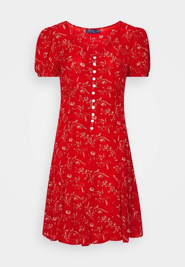 SHORT SLEEVE CASUAL DRESS - Sukienka letnia - red