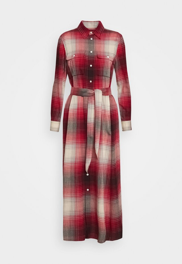 LONG SLEEVE CASUAL DRESS - Blousejurk - red