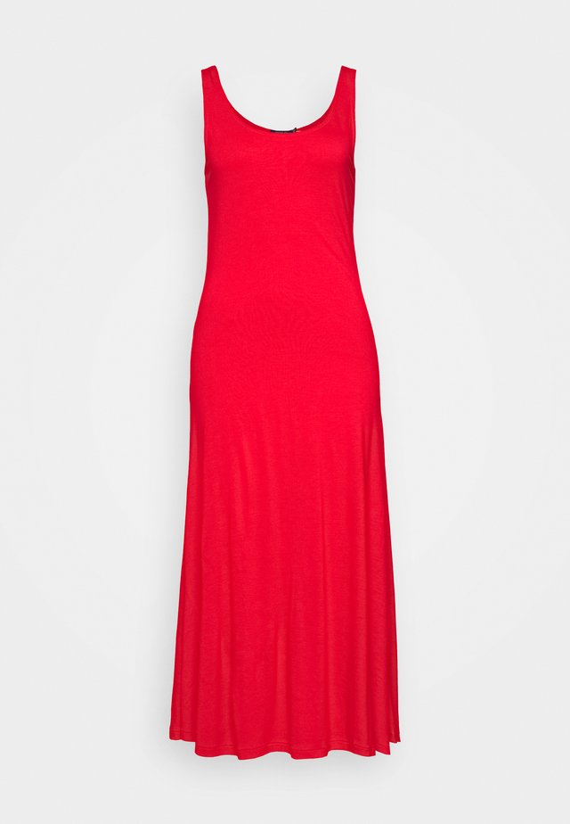 SLEEVELESS CASUAL DRESS - Jerseyjurk - african red