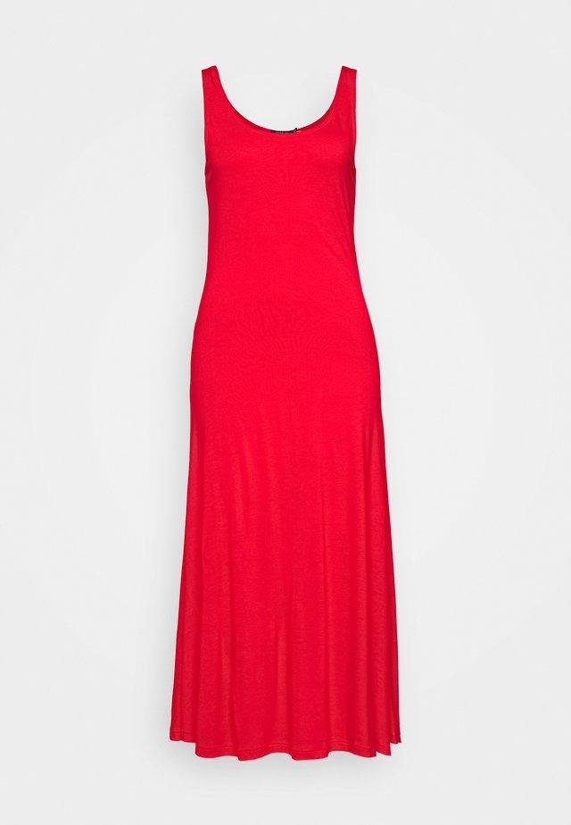 SLEEVELESS CASUAL DRESS - Sukienka z dżerseju - african red