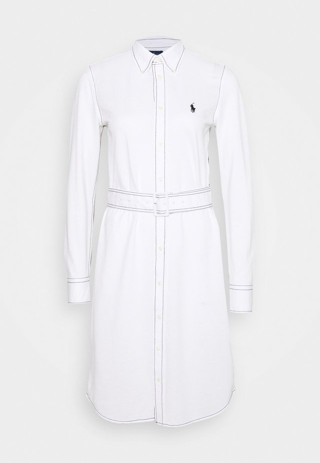 HEIDI LONG SLEEVE CASUAL DRESS - Korte jurk - white