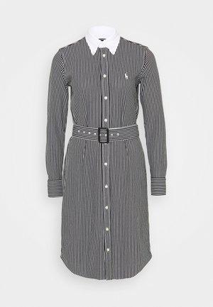 HEIDI LONG SLEEVE CASUAL DRESS - Shirt dress - black/white