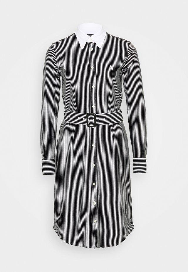 HEIDI LONG SLEEVE CASUAL DRESS - Blousejurk - black/white