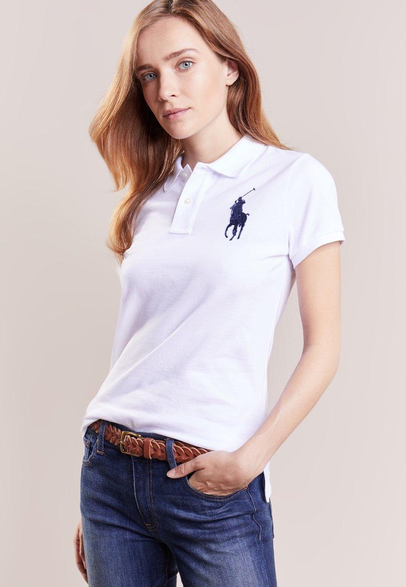 Polo Ralph Lauren - Koszulka polo - white/navy