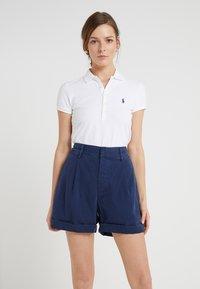 Polo Ralph Lauren - JULIE SHORT SLEEVE SLIM FIT - Polo shirt - white - 0