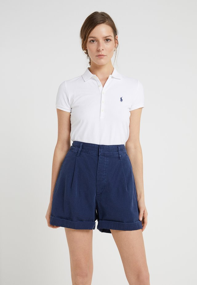 JULIE SHORT SLEEVE SLIM FIT - Polo - white