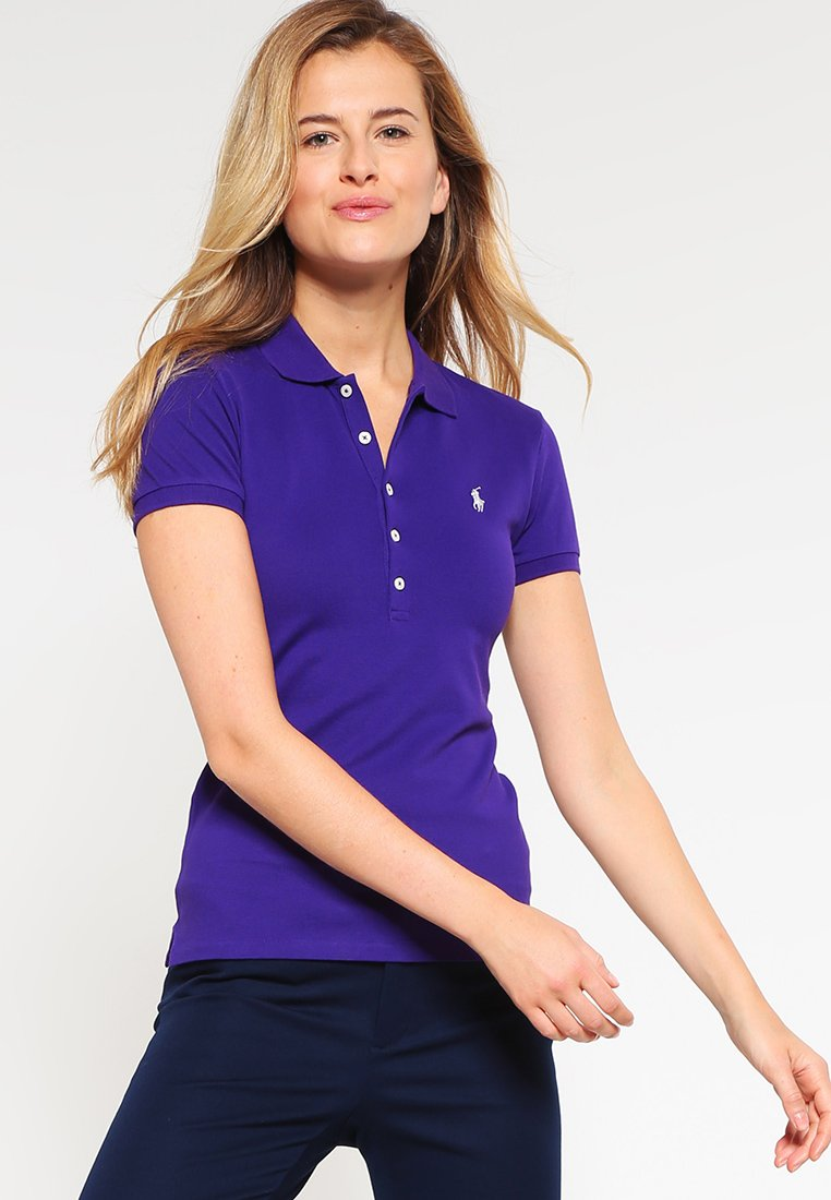 Polo Ralph Lauren - JULIE SHORT SLEEVE SLIM FIT - Polo - chalet purple