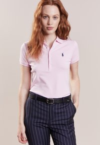 Polo Ralph Lauren - JULIE SHORT SLEEVE SLIM FIT - Polo - country club pink/navy - 0
