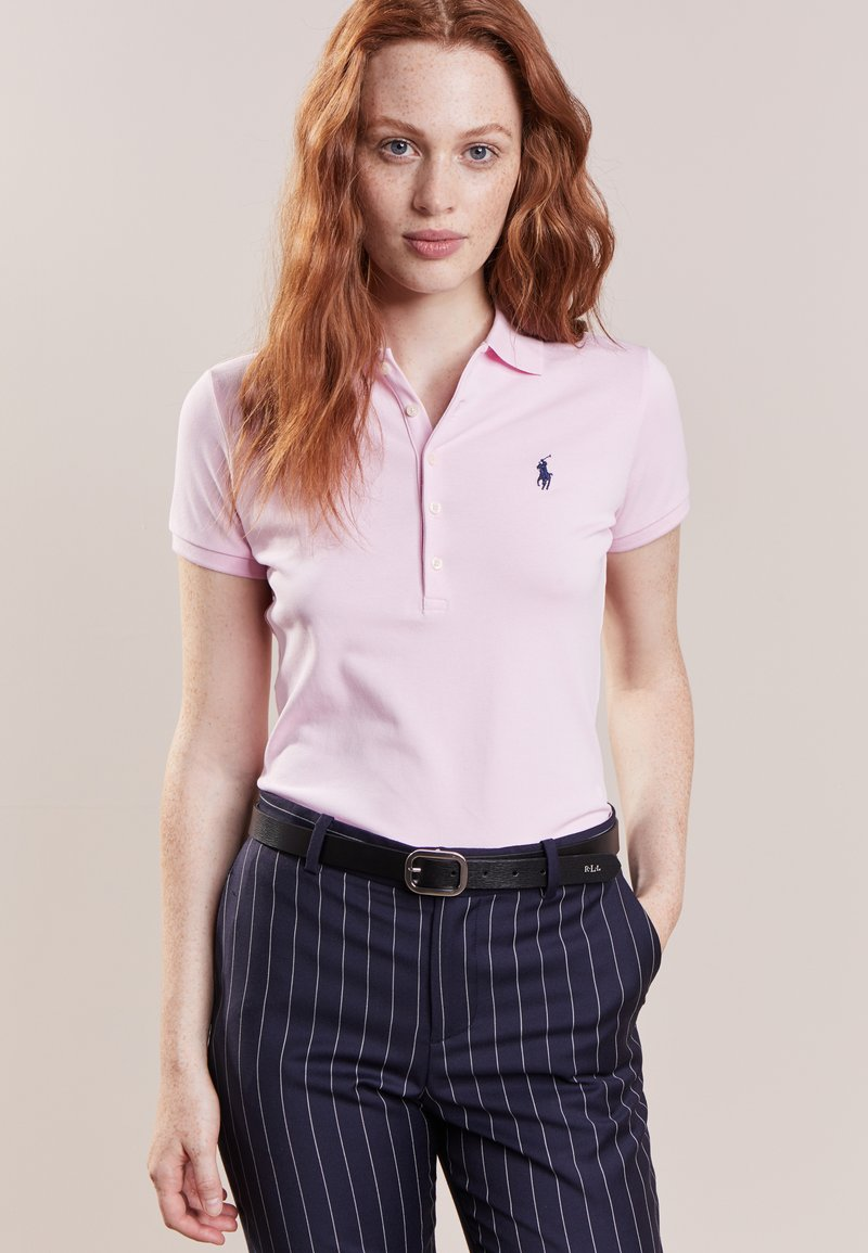Polo Ralph Lauren - JULIE SHORT SLEEVE SLIM FIT - Polo - country club pink/navy
