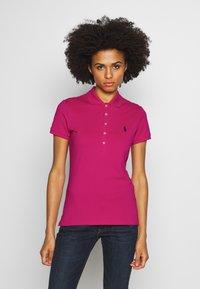 Polo Ralph Lauren - JULIE SHORT SLEEVE SLIM FIT - Poloshirt - accent pink - 0