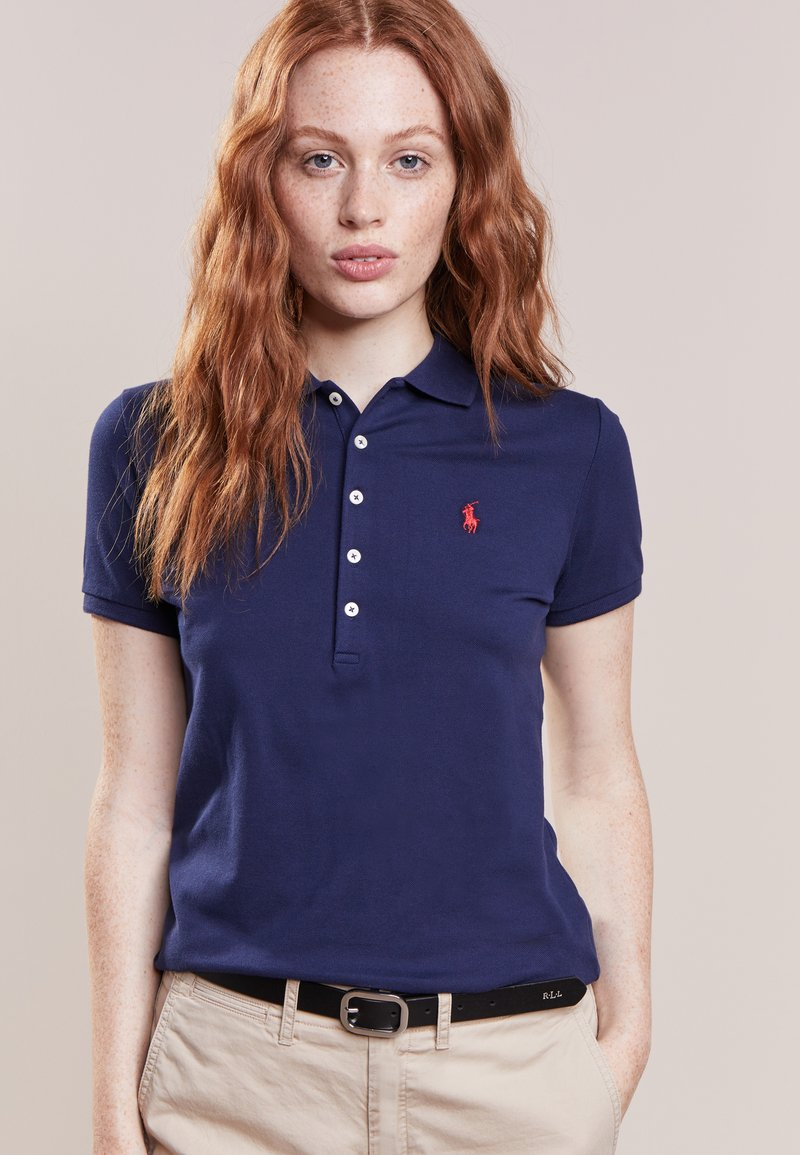 Polo Ralph Lauren - JULIE SHORT SLEEVE SLIM FIT - Polotričko - newport navy
