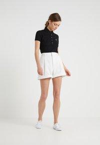 Polo Ralph Lauren - JULIE SHORT SLEEVE SLIM FIT - Poloshirt - black/white - 1