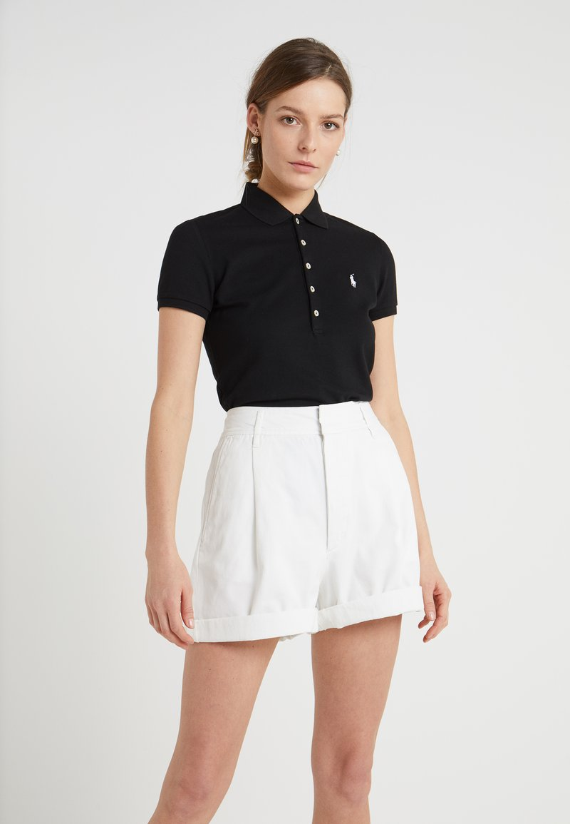 Polo Ralph Lauren - JULIE SHORT SLEEVE SLIM FIT - Poloshirt - black/white