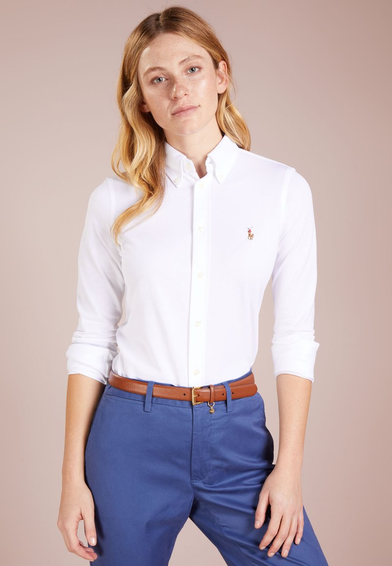 Polo Ralph Lauren - HEIDI LONG SLEEVE - Skjortebluser - white