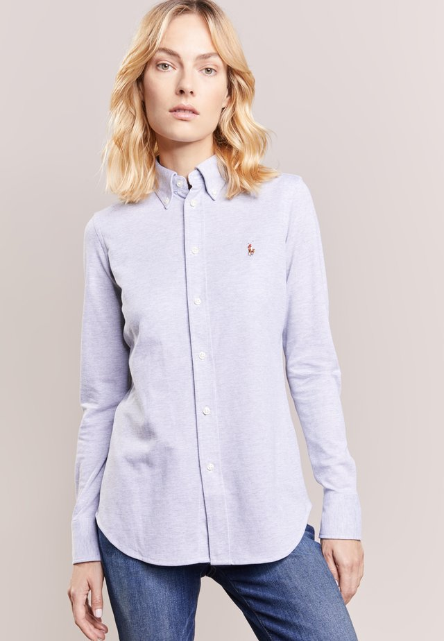 HEIDI LONG SLEEVE - Button-down blouse - andover heather