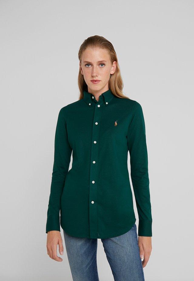 HEIDI LONG SLEEVE - Button-down blouse - hunt club green