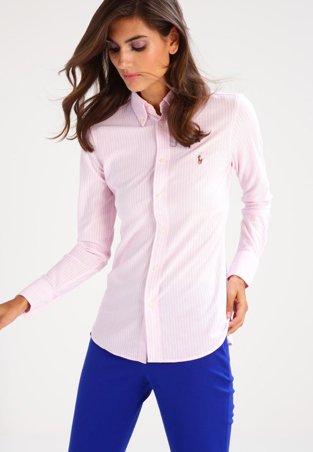 HEIDI - Overhemdblouse - carmel pink/white