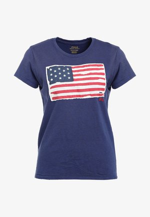 FLAG - T-shirt con stampa - classic royal